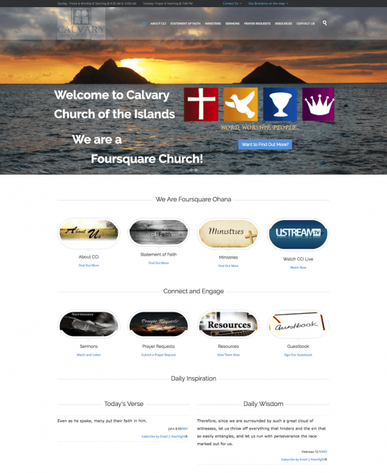 Calvary Church of the Islands Website Design