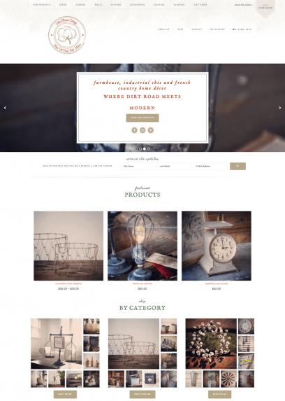 Cotton Blossom Exchange Website Design