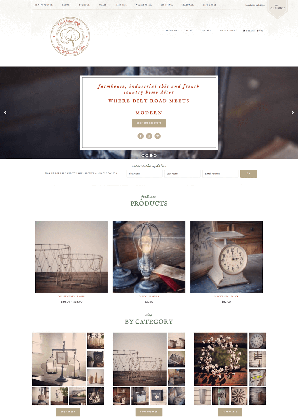 Cotton Blossom Exchange Website Design