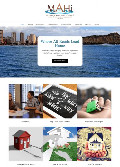 Mortgage Associates of Hawaii Website Design