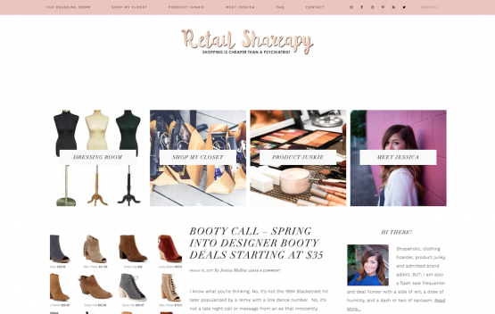 Retail Shareapy Website Design