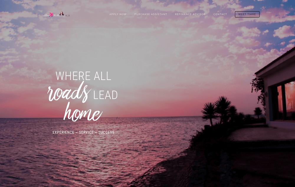 Tiare Fullerton Website Design