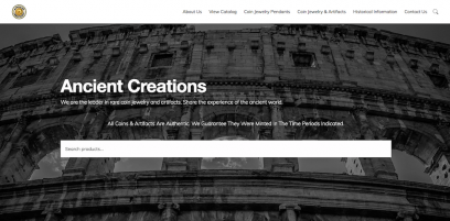 Ancient Creations Website Design