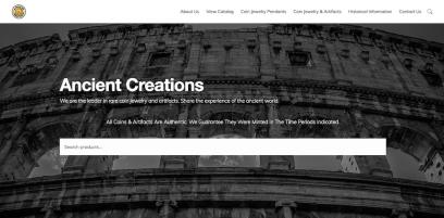 Ancient Creations Website Design