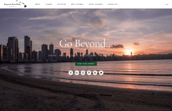 Beyond Honolulu Website Design