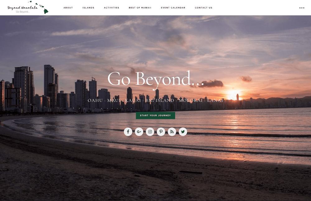 Beyond Honolulu Website Design