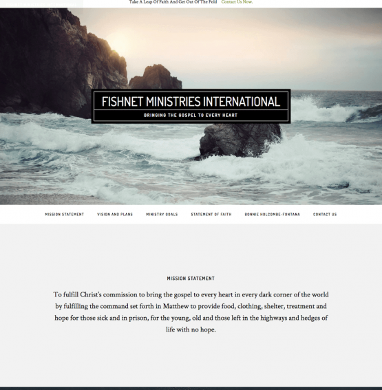 Fishnet Ministries International Website Design