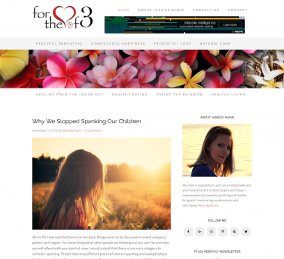 For the Love of 3 Website Design
