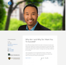 Grant Kanoho Website Design