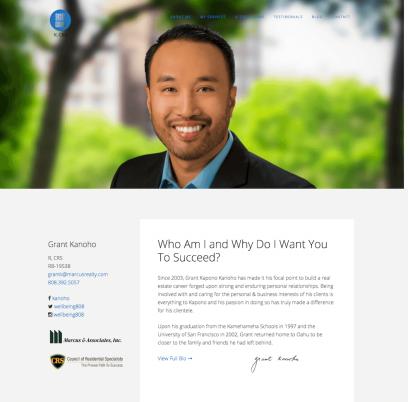 Grant Kanoho Website Design