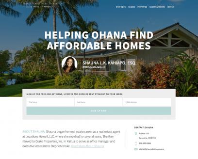 Hawaii Foreclosure Properties Website Design