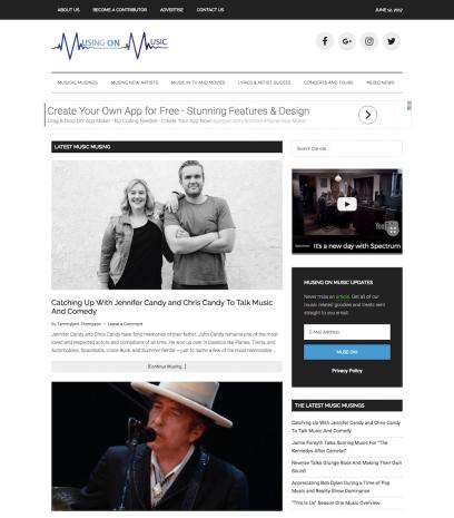 Musing on Music Website Design