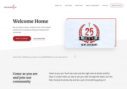 New Covenant Church of God Website Design