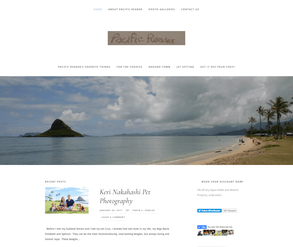 Pacific Reader Website Design