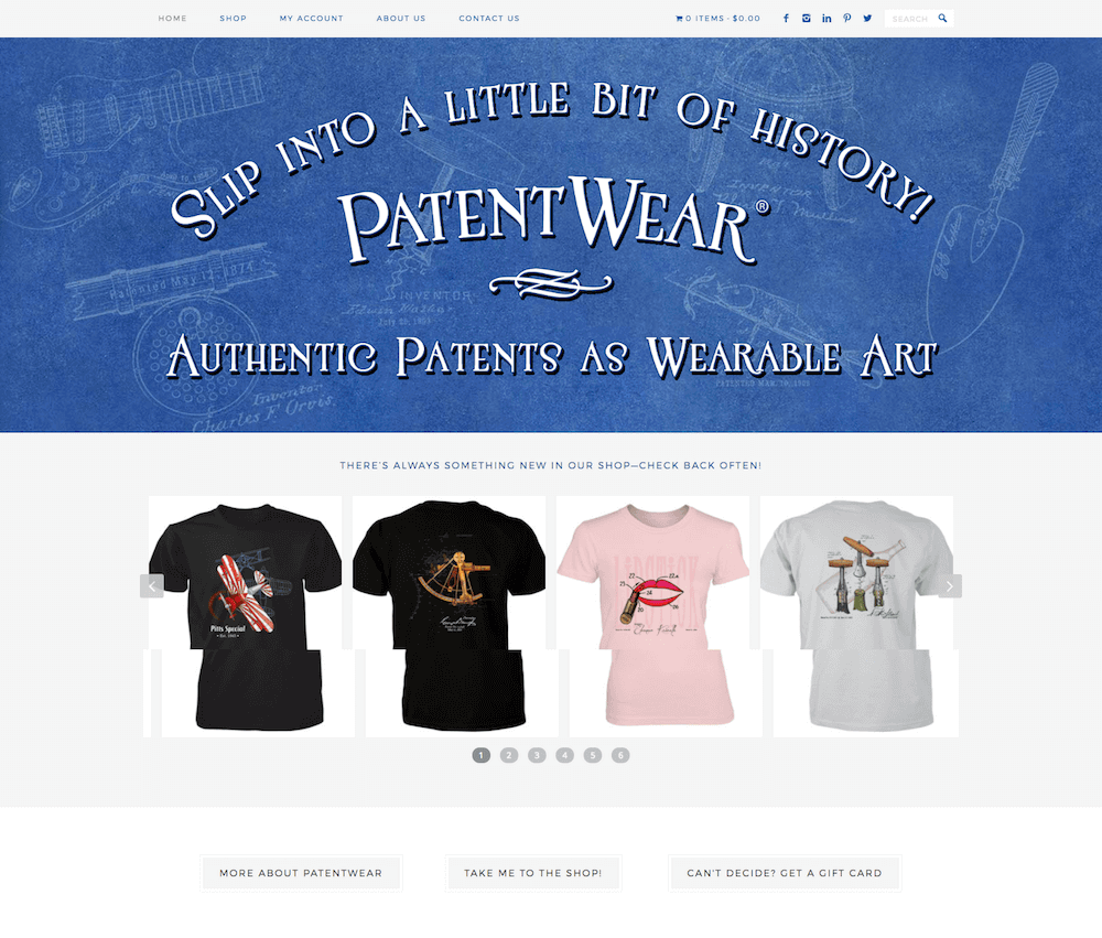 PatentWear Website Design