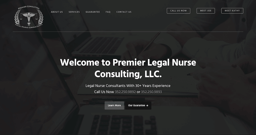 Premier Consulting Website Design