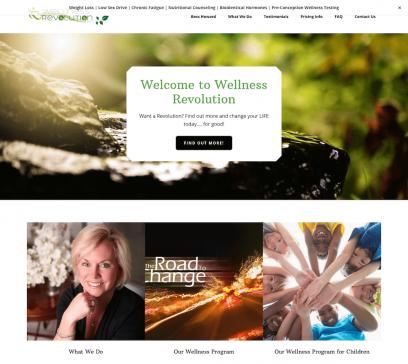 Wellness Revolution Website Design