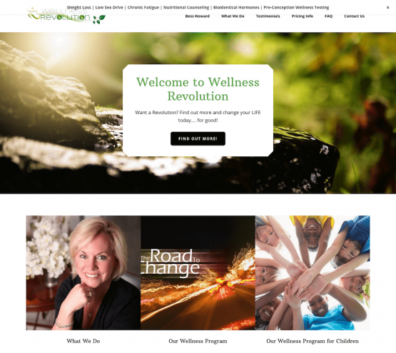 Wellness Revolution Website Design