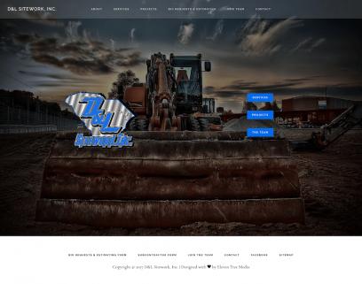 D&L Sitework Website Design