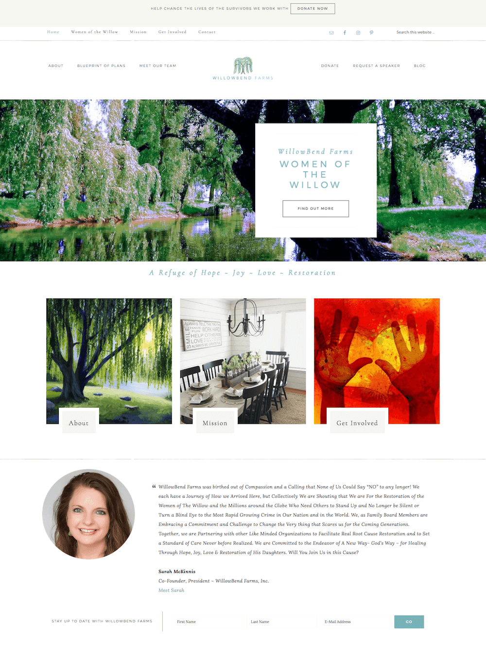 WillowBend Farms Website Design