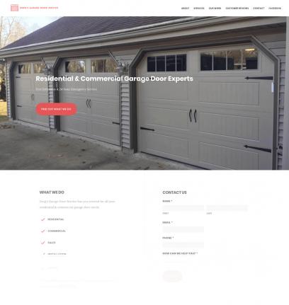 Greg's Garage Door Service Website Design