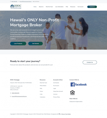 HHOC Mortgage Website Design