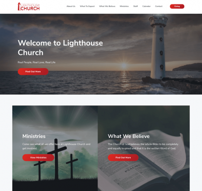 Lighthouse Church Website Design